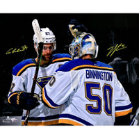 "JORDAN BINNINGTON & ALEX PIETRANGELO Autographed St. Louis Blues 16"" x 20"" Photo FANATICS LE 50"