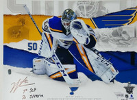 "JORDAN BINNINGTON St. Louis Blues Autographed and Inscribed ""1st SCP SO 5/19/19"" 11x14 Photo FANATICS LE 50"