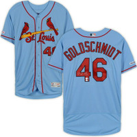 PAUL GOLDSCHMIDT Autographed St. Louis Cardinals Authentic Blue Jersey FANATICS