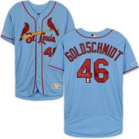 PAUL GOLDSCHMIDT Autographed St. Louis Cardinals Authentic Blue Jersey FANATICS