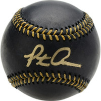PETE ALONSO Autographed New York Mets Black Leather Official Baseball FANATICS