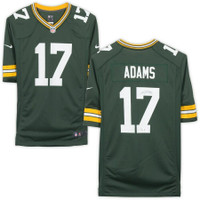 DAVANTE ADAMS Autographed Green Bay Packers Nike Green Game Jersey FANATICS