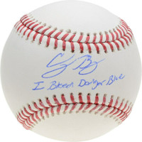 "CODY BELLINGER Los Angeles Dodgers Autographed ""I Bleed Dodger Blue"" Official Baseball FANATICS"