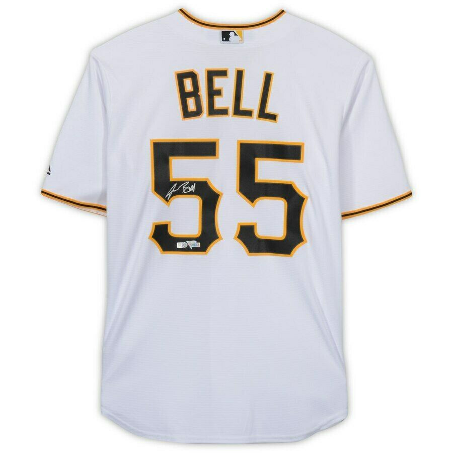 quality design 88af4 ac9d4 JOSH BELL Autographed Pittsburgh Pirates Home White Jersey FANATICS