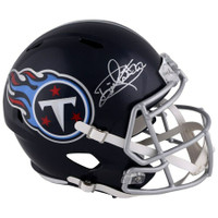 DERRICK HENRY Autographed Tennessee Titans Speed Full Size Helmet FANATICS
