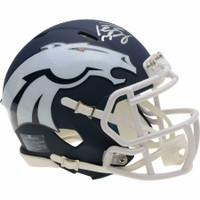 PEYTON MANNING Autographed Denver Broncos AMP Speed Mini Helmet FANATICS