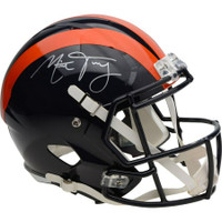 MITCHELL TRUBISKY Autographed Chicago Bears Throwback Helmet FANATICS