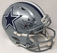 "DAK PRESCOTT Dallas Cowboys Signed / Inscribed ""ROTY 16"" Authentic Helmet STEINER LE 104/104"