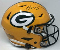 AARON RODGERS Autographed Green Bay Packers Speed Flex Helmet FANATICS