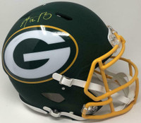 AARON RODGERS Autographed Green Bay Packers AMP Speed Helmet FANATICS