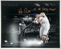 "PETE ALONSO Autographed New York Mets 16 x 20 ""19 HR Derby Champ"" Photograph FANATICS"