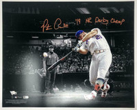 "PETE ALONSO Autographed New York Mets 16 x 20 ""19 HR Derby Champ"" Photograph FANATICS"