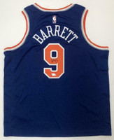 R.J. BARRETT Autographed New York Knicks Nike Swingman Jersey FANATICS