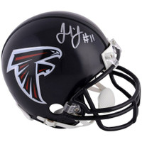 JULIO JONES Autographed Atlanta Falcons Mini Helmet FANATICS