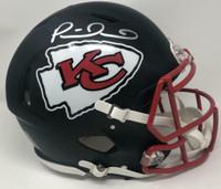 PATRICK MAHOMES Autographed Kansas City Chiefs Black Matte Speed Authentic Helmet FANATICS