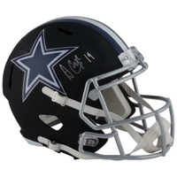 AMARI COOPER Autographed Dallas Cowboys Speed Black Matte Full Size Helmet FANATICS