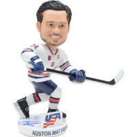 AUSTON MATTHEWS Autographed Team USA Bobblehead FANATICS LE 34