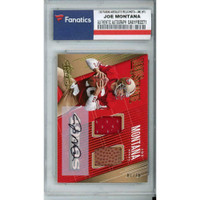 JOE MONTANA Autographed San Francisco 49ers 18 Panini Absolute RELIC/#STD-JM Card FANATICS