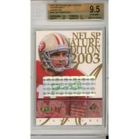 JOE MONTANA Autographed San Francisco 49ers 2003 UD SP S.E./#29/50 BGS 9.5 Trading Card FANATICS