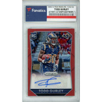 TODD GURLEY Autographed Los Angeles Rams/15 Prizm Rookie #RS-TG 16/100 Trading Card FANATICS