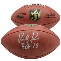 "RANDY MOSS Autographed ""HOF 18"" Official NFL Duke Pro Football FANATICS"