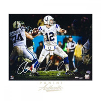 "ANDREW LUCK Autographed Indianapolis Colts 16 x 20 ""Seam"" Photograph PANINI LE 25"