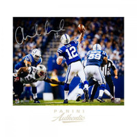 "ANDREW LUCK Autographed Indianapolis Colts 16 x 20 ""Shotgun"" Photograph PANINI LE 25"