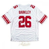 SAQUON BARKLEY Autographed New York Giants Nike White Jersey PANINI