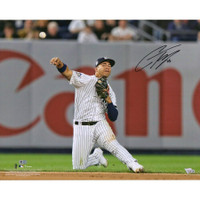 GLEYBER TORRES Autographed New York Yankees Throwing 16 x 20 Photograph FANATICS