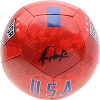 ALEX MORGAN Autographed Red Nike USA Logo Soccer Ball FANATICS