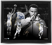"STEPHEN CURRY Autographed ""MVP"" 24 X 20 Framed Photo Limited to 30 UDA"