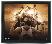 "STEPHEN CURRY Autographed ""Golden State"" 24"" x 20"" Framed Photo Limited to 50 UDA"