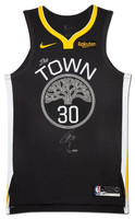 STEPHEN CURRY Autographed Golden  State Warriors Gray The Town Edition Authentic Nike Jersey Limited to 30 UDA