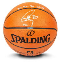 STEPHEN CURRY Autographed & Inscribed Authentic Spalding Basketball Limited to 30 UDA