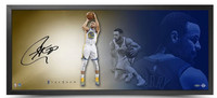 "STEPHEN CURRY Autographed The Show ""Fluid"" 46 x 20 Framed Photo UDA"