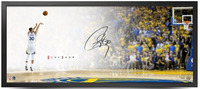 "STEPHEN CURRY Autographed The Show ""STEPH LAYUP"" 46"" x 20"" Framed Photo UDA"