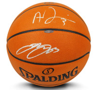 LEBRON JAMES & ANTHONY DAVIS Autographed Authentic Spalding Basketball UDA