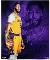 "ANTHONY DAVIS Autographed Los Angeles Lakers ""And So it Begins"" 20"" x 24"" Photo UDA"