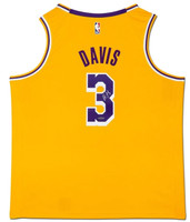 ANTHONY DAVIS Autographed Los Angeles Lakers Gold Swingman Jersey UDA