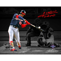 "JUAN SOTO Washington Nationals Autographed 11"" x 14"" 2019 World Series Champions Game 1 Home Run Spotlight Photograph FANATICS"