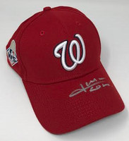 JUAN SOTO Washington Nationals Autographed 2019 World Series Champions New Era Baseball Cap FANATICS