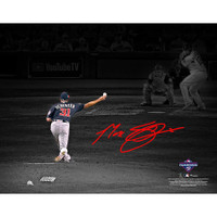 "MAX SCHERZER Washington Nationals Autographed 11"" x 14"" 2019 World Series Champions Game 1 Pitching Spotlight Photograph FANATICS"