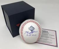 "MAX SCHERZER Washington Nationals Autographed 2019 World Series Champions Baseball with ""19 WS Champs"" Inscription FANATICS"