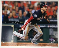 "TREA TURNER Washington Nationals Autographed 16"" x 20"" 2019 World Series Champions World Series Hitting Photograph FANATICS"