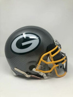 GREEN BAY PACKERS Authentic VSR4 Riddell Grey Hydro Dipped Full Size Unsigned Helmet