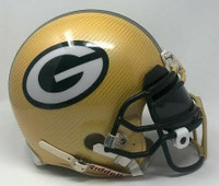 GREEN BAY PACKERS Authentic VSR4 Riddell Yellow Hydro Dipped Full Size Unsigned Helmet