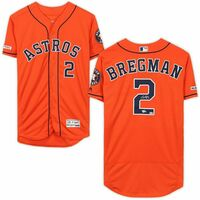 ALEX BREGMAN Autographed Houston Astros Authentic Orange Jersey FANATICS