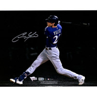"CHRISTIAN YELICH Autographed Milwaukee Brewers 11""x14"" Spotlight Photo FANATICS"