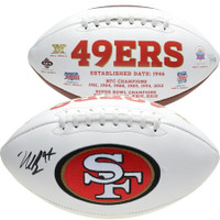 NICK BOSA Autographed San Francisco 49ers White Panel Football FANATICS