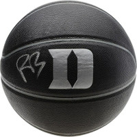 R.J. BARRETT Autographed Duke Blue Devils Blackout Basketball FANATICS